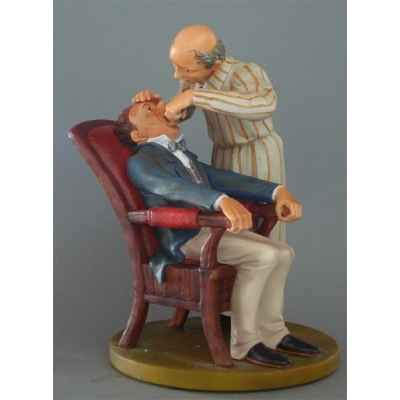 Figurine art mouseion daumier dentiste 22cm  hd11 3dMouseion