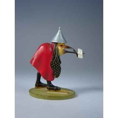 Figurine art mouseion jeroen bosch vogel met brief  jb06 3dMouseion
