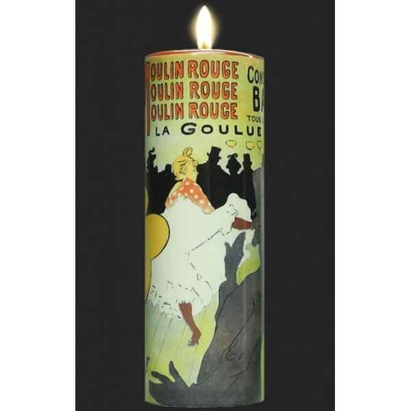 Photophore art moulin rouge - la goulue de toulouse-lautrec 3dMouseion -TC15TL
