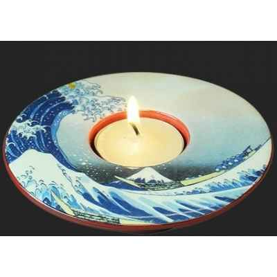 Photophore art the great wave of kanagawa de hokusai 3dMouseion -TP05HOK