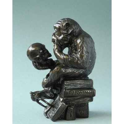 Statuette affe mit schadel 3dMouseion -PA09RHE