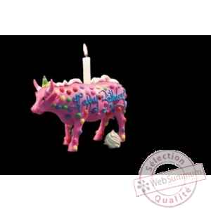 Figurine Vache 21cm happy birthday Art in the City 84119
