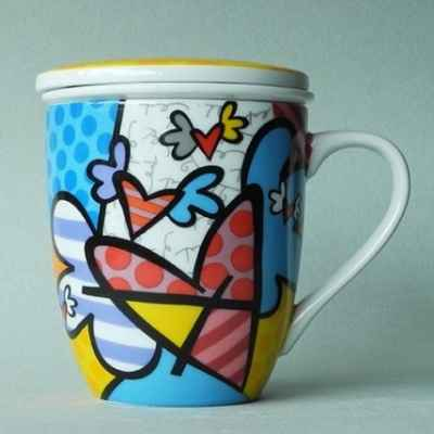 Mug flying heart avec infuseur britto romero -b334158
