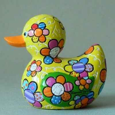 Statuette canard flying heart Britto Romero -B334336