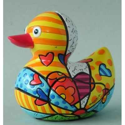 Statuette canard a new day Britto Romero -B334278