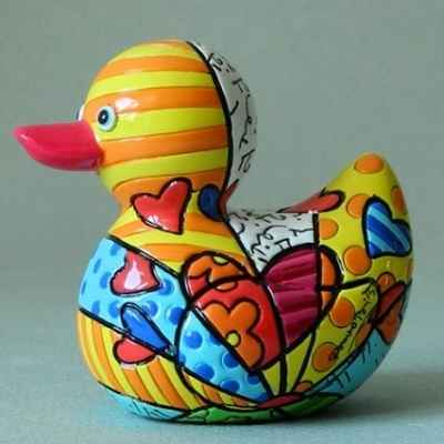 Statuette canard a new day Britto Romero -B334337