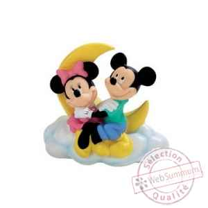 Figurine bullyland tirelire mickey et minnie -b15214