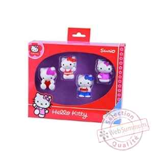 Hello kitty pack 4 figurines 5 cm Bullyland -BULA53411