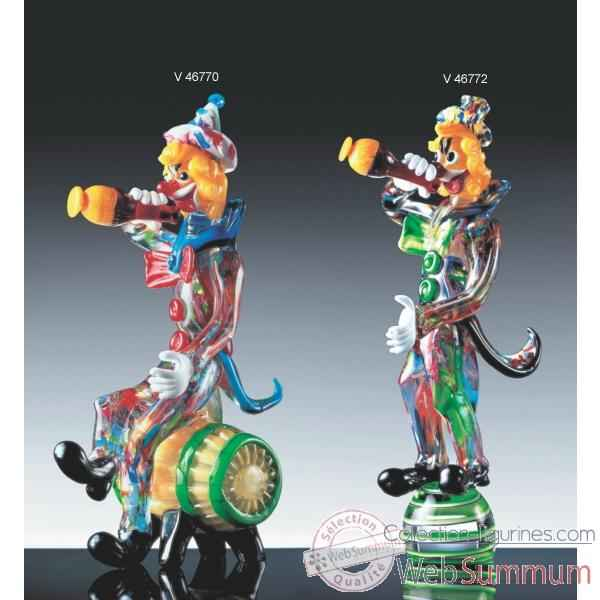 clown en verre formia v46770 de animaux verre de murano sur collection figurines. Black Bedroom Furniture Sets. Home Design Ideas