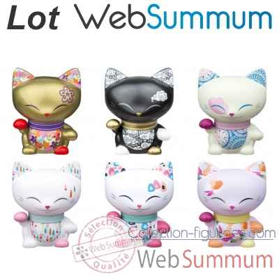Collection chat porte bonheur Mani Lucky Cat -LWS-523