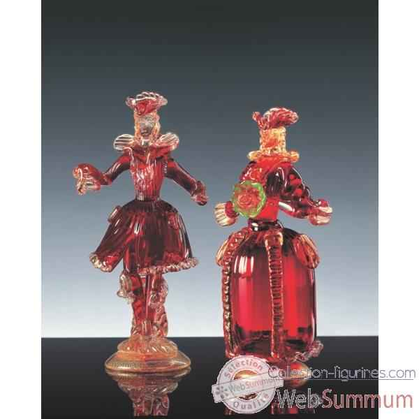 Couple goldini en verre Formia -V46105-M