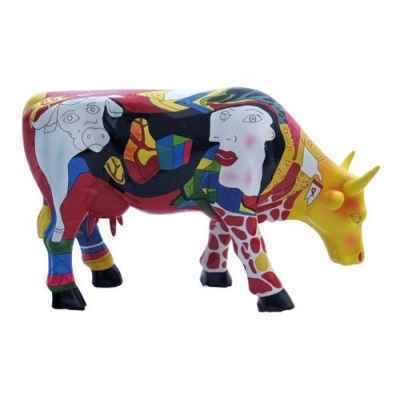 Vache micro moo hommage to picowso\'s african period CowParade -49900