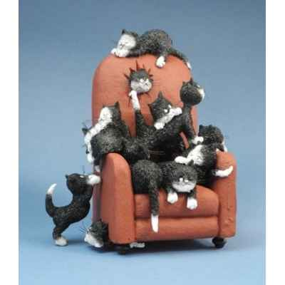 Figurine chat garde-moi une place Dubout -DUB68