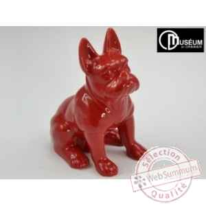 doggy statuette rouge 29cm Edelweiss -B5750