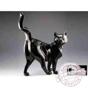Objet decoration shadow chat noir Edelweiss -C2034