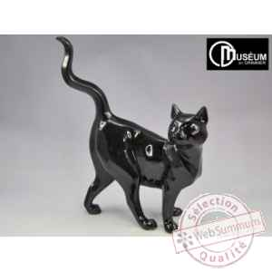 Objet decoration shadow chat noir tigre Edelweiss -C2180