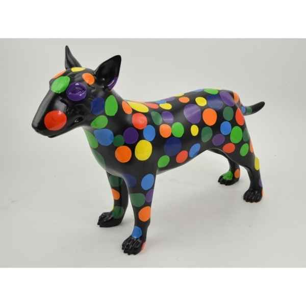 Statue funny chien pois couleur Edelweiss -C9270