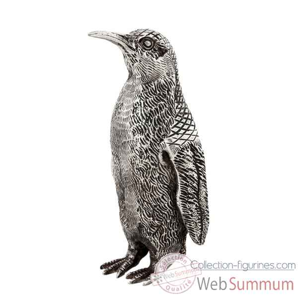 Pingouin argent antique grand Eichholtz -07765