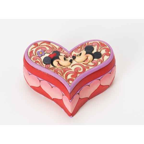 Love keeper (mickey & minnie mouse heart box) n Figurines Disney Collection -4026089