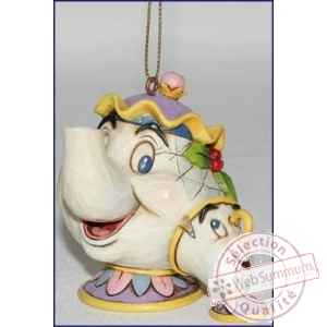 Mrs potts & chip hanging ornament  Figurines Disney Collection -A21431