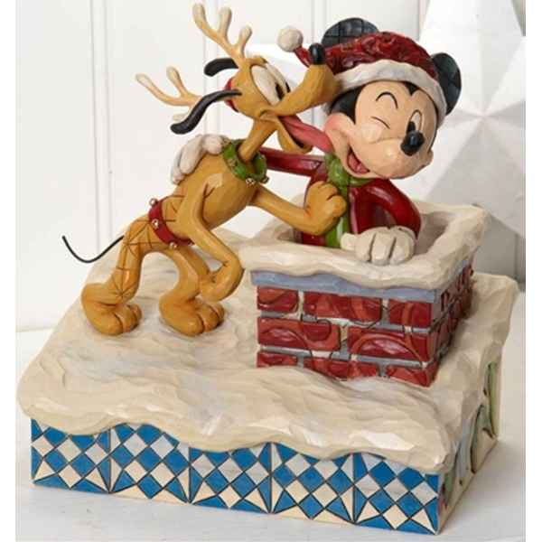 Up on the rooftop (mickey mouse & pluto)  Figurines Disney Collection -4023543
