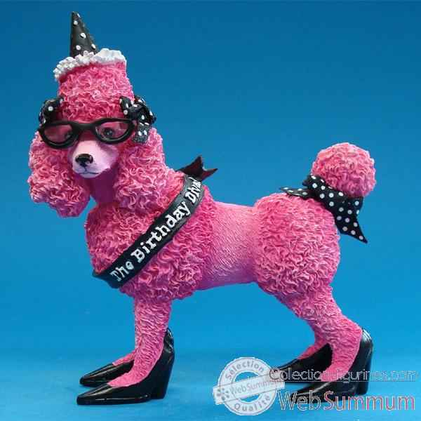 Video Figurine Anniversaire Caniche rose -HB16928