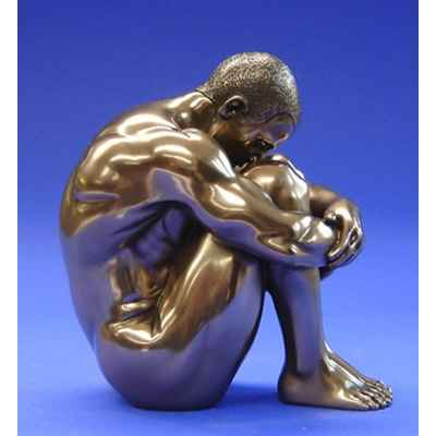 Figurine Body Talk - Homme bronze Man sitting - WU71752