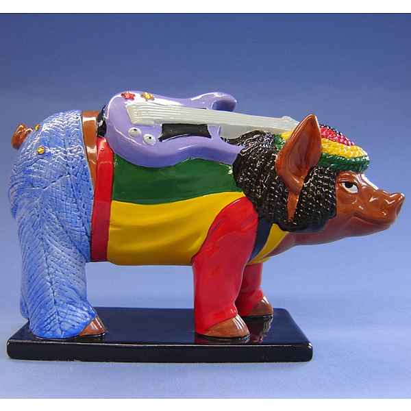 Figurine Cochon Party Piggies Reggea -PAP18