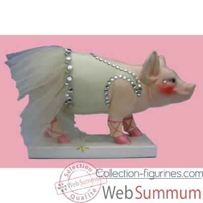 Figurine Cochon - Party Piggies - Piggy en pointe - PAP16