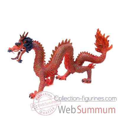 Figurine le dragon chinois rouge-60234