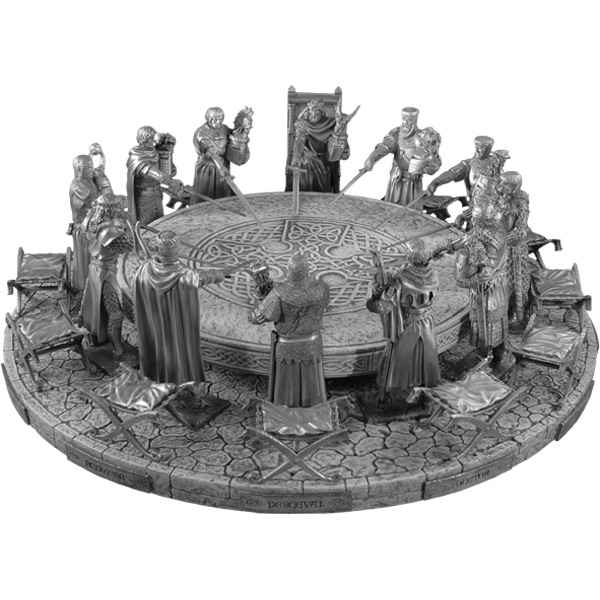 Figurines tains les 12 chevaliers de la table ronde dans - Jeu de societe les chevaliers de la table ronde ...