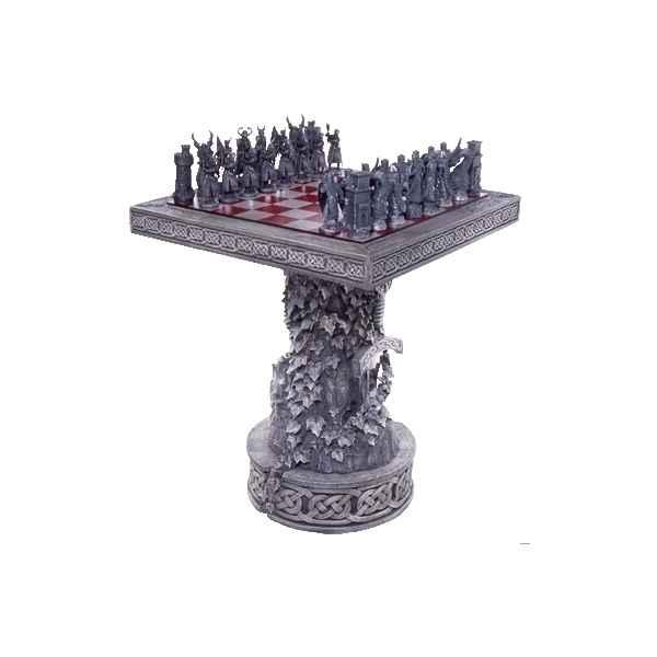 table d 39 chiquier sur colonne etains du graal dans figurine jeux d 39 chec en tain. Black Bedroom Furniture Sets. Home Design Ideas