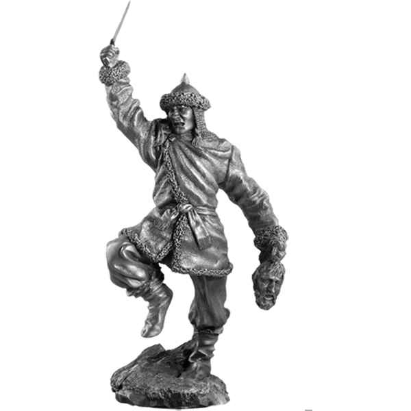 Figurines etains Guerrier hun -MA029