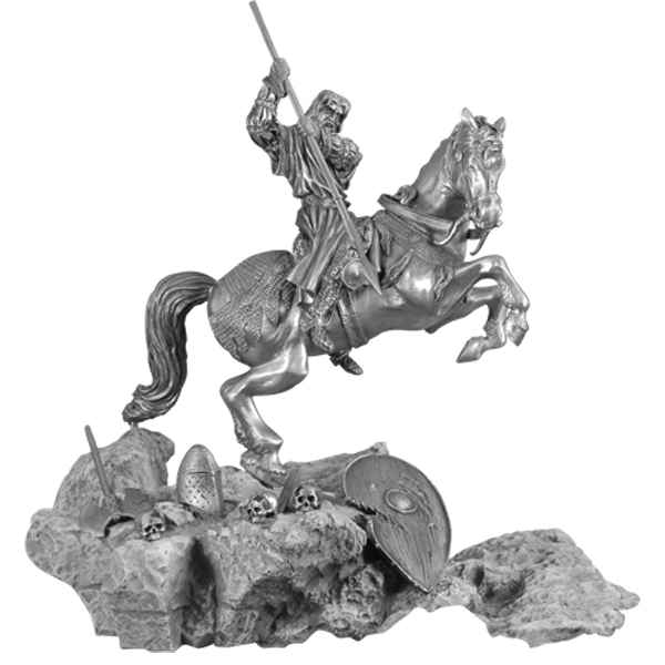 Figurines etains St Georges a cheval -MA065