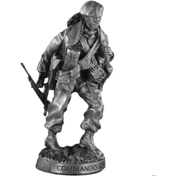 Figurines etains Commando kieffer -MI015