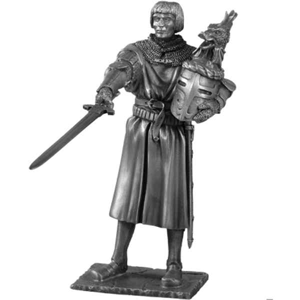 Figurines etains Chevalier de la table ronde Lancelot et siege -TR003