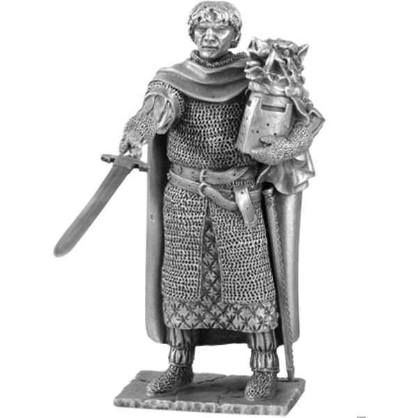 Figurines etains Chevalier de la table ronde galaad et siege -TR004