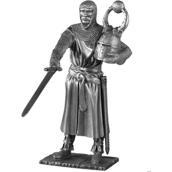 Figurines etains Chevalier de la table ronde sagremor et siege -TR005