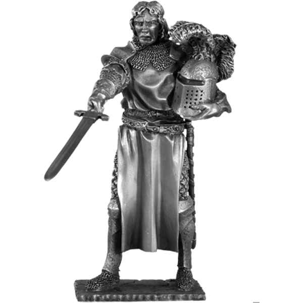 Figurines etains Chevalier de la table ronde Tristan et siege -TR006