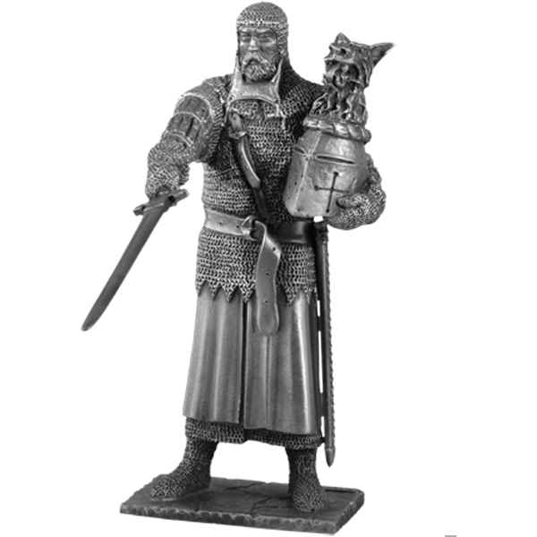Figurines etains Chevalier de la table ronde Perceval et siege -TR008