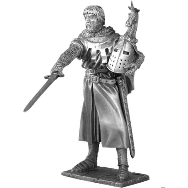 Figurines etains Chevalier de la table ronde Hector et siege -TR009