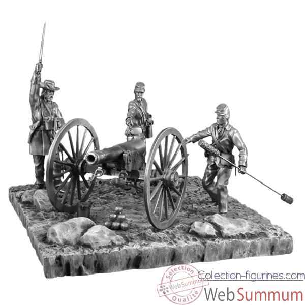Figurines etains scene de la guerre de secession- -GS003-004-005-006