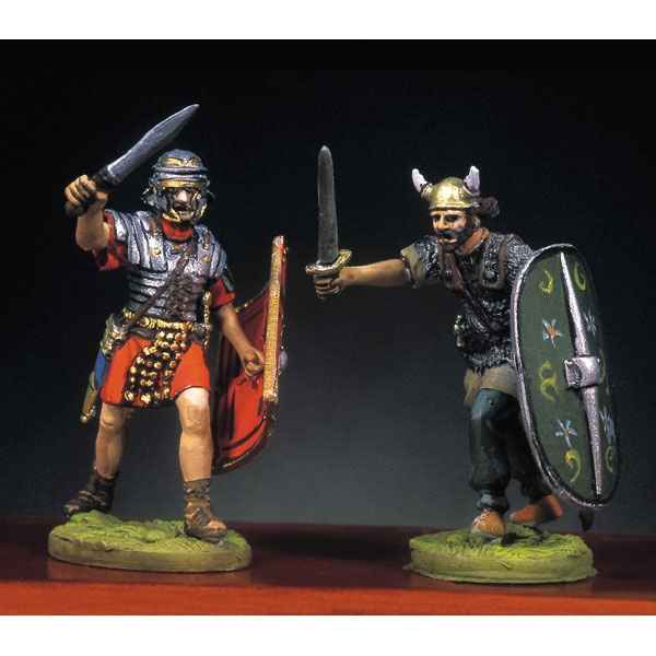 Video Figurine - Kit a peindre Soldat romain et barbare en train de lutter  I - RA-013