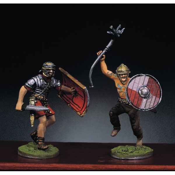 Video Figurine - Kit a peindre Soldat romain et barbare en train de lutter  II - RA-014