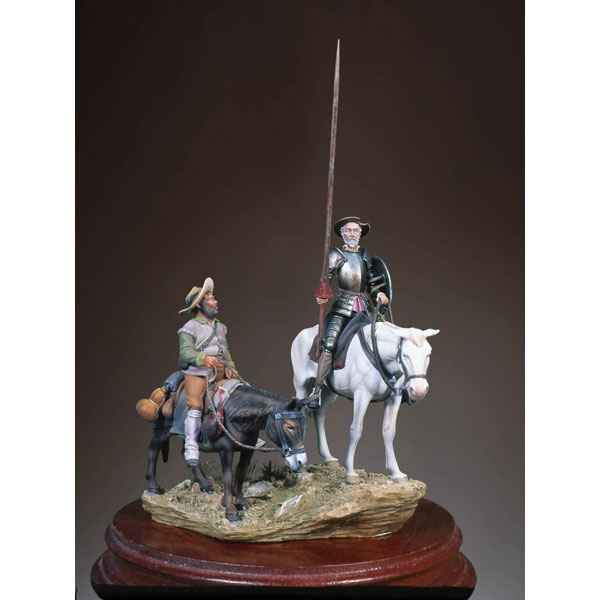 Figurine - Kit a peindre Ensemble Don Quichotte et Sancho - SG-S12