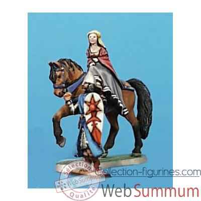 Video Figurine - Kit a peindre Demoiselle a cheval et ecuyer - CA-019