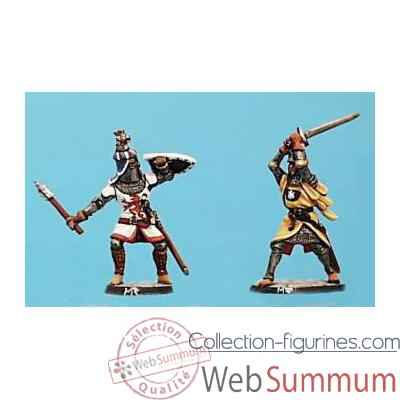 Video Figurine - Kit a peindre Combat de chevaliers 1 - CA-037