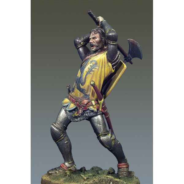 Video Figurine - Kit a peindre Chevalier au combat I  Crecy en 1346 - SM-F48