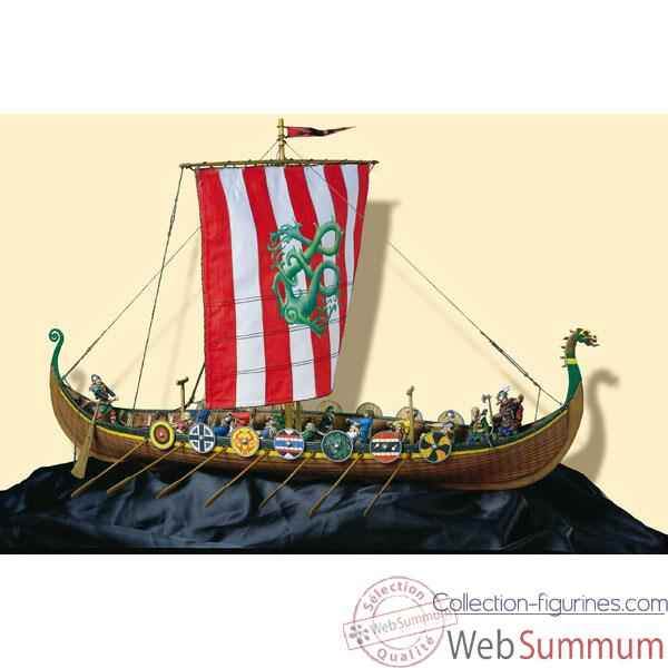 Figurine - Kit a peindre Ensemble Drakkar viking - SM-S04