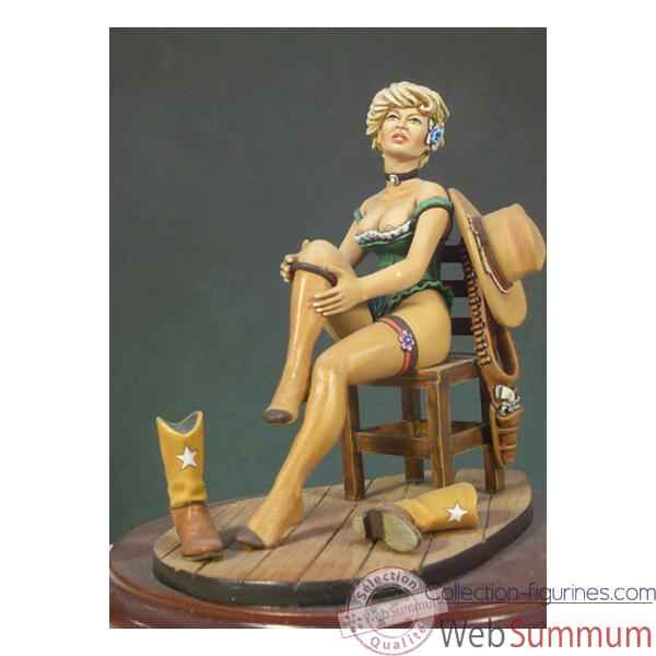 Figurine - Kit a peindre Belle du Far West - G-012